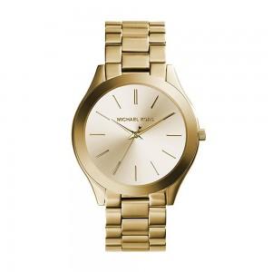 Michael Kors Slim Runway Three-Hand Analog Quartz Watch - Gold