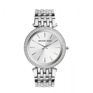 Michael Kors Women's Darci Three-Hand Analog Quartz Watch with Glitz Accents - Silver