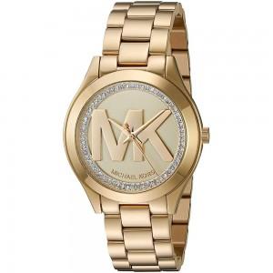 Michael Kors Women's Mini Slim Runway Analogue Quartz Watch - Gold
