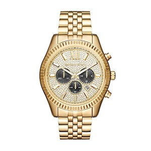 Michael Kors Lexington Chronograph Stainless Steel Watch - Gold