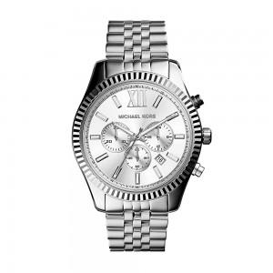 Michael Kors Lexington Chronograph Stainless Steel Watch - Silver