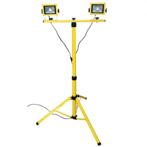 Dual 2 x 20W LED Portable Floodlight with Stand ZA-442