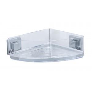 Wenko VACUUM-LOC® CORNER SHELF QUADRO RANGE - S/STEEL