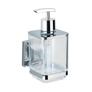 Wenko VACUUM-LOC SOAP DISPENSER QUADRO RANGE - S/STEEL