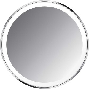 simplehuman 10cm SENSOR MIRROR COMPACT - 3x MAGNIFICATION - BRUSHED S/STEEL