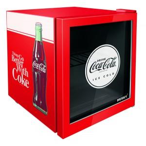 Alva 46L COUNTER-TOP BEVERAGE COOLER W/ GLASS DOOR - COCA COLA - RED