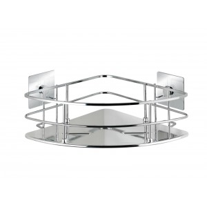 Wenko TURBO-LOC® CORNER SHELF QUADRO RANGE - S/STEEL