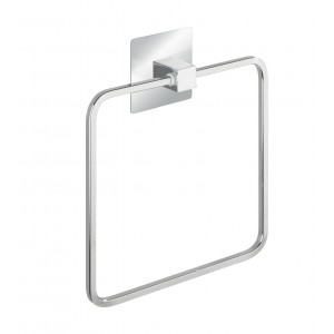 Wenko TURBO-LOC® TOWEL RING QUADRO RANGE - S/STEEL