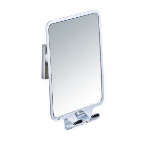 Wenko VACUUM-LOC ANTI-FOG SHOWER MIRROR WITH 2 HOOKS QUADRO RANGE