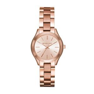 Michael Kors Women's Mini Slim Runway Analogue Quartz Watch - Rose Gold
