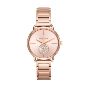 Michael Kors Women's Portia Rose Gold Round Stainless Steel Watch