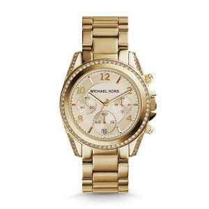 Michael Kors Women's Blair Glitz Gold Stainless-Steel Quartz Watch