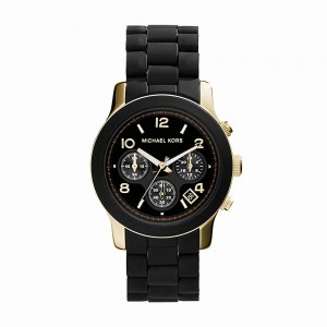 Michael Kors Women's Mini Runway Analogue Quartz Watch - Black