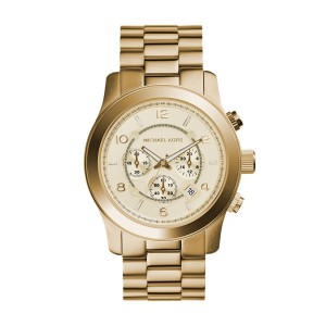 Michael Kors Men's Runway Gold Round Stainless Steel Watch