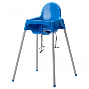Antilop Highchair with tray - Blue