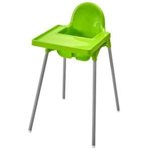 Antilop Highchair with tray - Light Green
