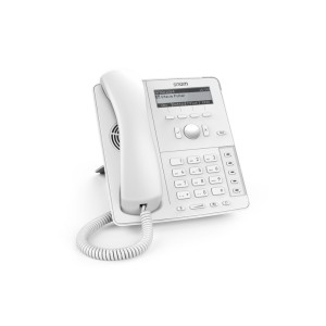 Snom D715 white - 4-line display, Gigabit port + 1 x USB port,4 context-sensitive function keys,Wideband audio, PSU not included