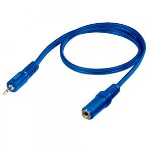 Astrum 0.2m 3.5mm Aux Extension Cable - Blue