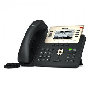 Yealink T27G - Advanced IP Phone, 3 Voip Accounts, 2 x RJ45, HD Voice, POE, no power supply