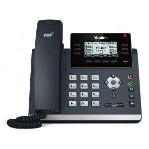 Yealink T42S - Gigabit Executive IP Phone, 3 Voip Accounts, 2 x RJ45, HD Voice, POE, no PSU