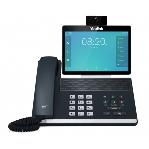 Yealink VP59 - Flagship smart video phone,8†1280x800-pixel color touch display, fully adjustable,1080p HD business video,27 touch memory keys, 16 SIP accounts,HDMI output,Call recording and wireles