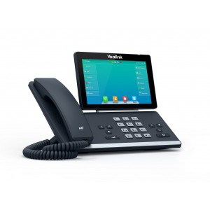 """Yealink T57W - Premium-level phone, 7""""color touch display, fully adjustable, 29 touch keys, 16 SIP accounts, Built-in Bluetooth, Wi-Fi,Dual-port Gigabit Ethernet,1xUSB"""