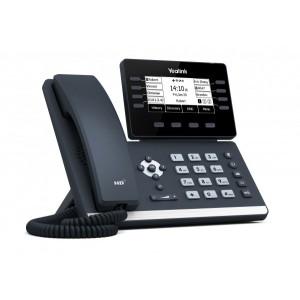 "Yealink T53W - Entry-level phone, 3.7"" display, fully adjustable. 8 line keys, 12 SIP accounts, 21 memory keys,Dual-port Gigabit Ethernet,1 USB,Built-in Bluetooth, Wi-Fi"