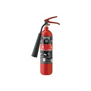 INTASAFETY 2 Kg CO2 Fire Extinguisher (Steel Alloy)