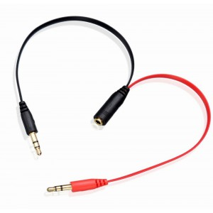 Aux Split Cable - 3.5mm Female to 2 x Male AUX Cable