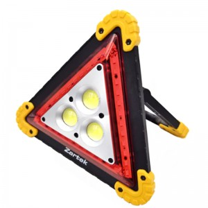 ZARTEK ZA-840 Rechargeable LED Hazard Work-light Red Warning Triangular Light