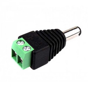 Augen Male DC Plug With Terminal