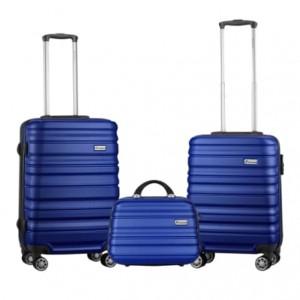 Travelwize Rio ABS 3Pc Luggage Set - Grey/Navy