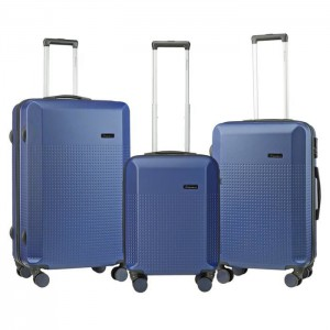 Travelwize Cyclone 3-Pc ABS Luggage Set - Navy