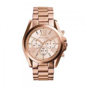 Michael Kors Men's Bradshaw Chronograph Stainless Steel Quartz Watch - Rose Gold
