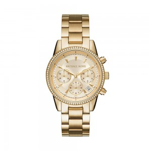 Michael Kors Women's Ritz Analogue Quartz Watch - Gold