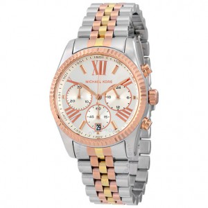 Michael Kors Women's Lexington Chronograph Watch - Rose Gold Tone