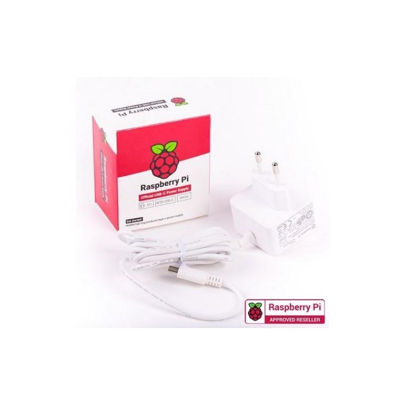 Raspberry Pi 4 USB-C 15.3W Power Supply 5.1V 3A - White