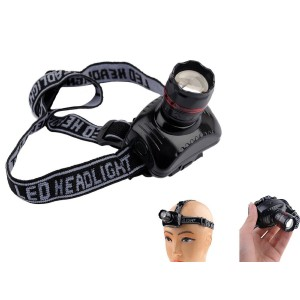 Super Bright LED Zoom Headlamp - Lightweight, Adjustable & Comfortable for Camping, Reading, Jogging, DIY and Emergencies