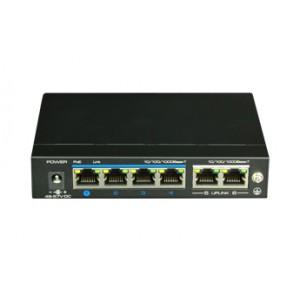 UTEPO 4 Port Unmanaged Gigabit PoE Switch & Dual GB RJ45 Uplink Ports