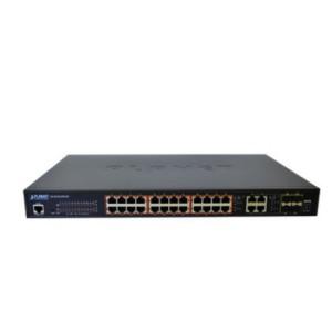 Planet 24-Port SNMP Managed 802.3af 10/100 PoE Ethernet Switch + 2Port Gbit