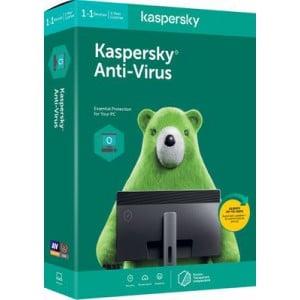 Kaspersky AntiVirus 2020 1+1 device 1 year DVD