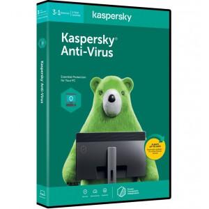Kaspersky AntiVirus 2020 3+1 device 1 year DVD