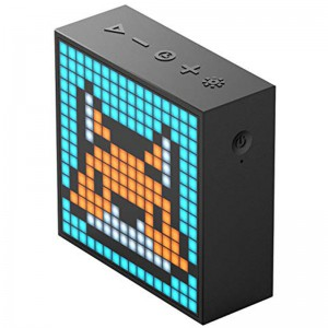 DIVOOM Timebox Evo Portable Bluetooth Pixel Art Speaker with 256 Programmable LED Panel  - Black