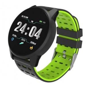 """Astrum SW200 IP67 1.3"""" HR BP BO 3AXIS Black + Green Smart Watch"""