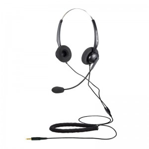 Calltel T800 Stereo-Ear Noise-Cancelling Headset - Single 3.5mm Jack