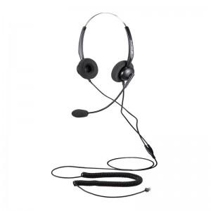 Calltel T800 Stereo-Ear Noise-Cancelling Headset - RJ9 Reverse