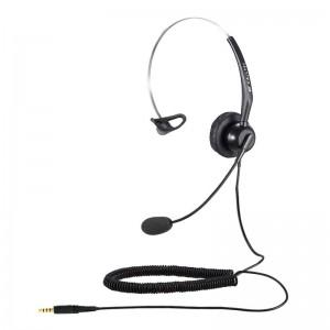 Calltel T800 Mono-Ear Noise-Cancelling Headset - Single 3.5mm Jack