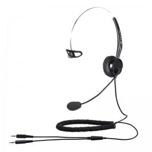 Calltel T400 Mono-Ear Noise-Cancelling Headset - Dual 3.5mm Jacks