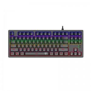 T-Dagger Bali Rainbow Backlit 150cm Cable 10-keyless Short Body Design Mechanical Keyboard - Black