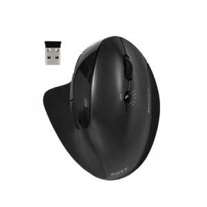 Port Connect Wireless Rechargeable Ergonomic Mouse - Black